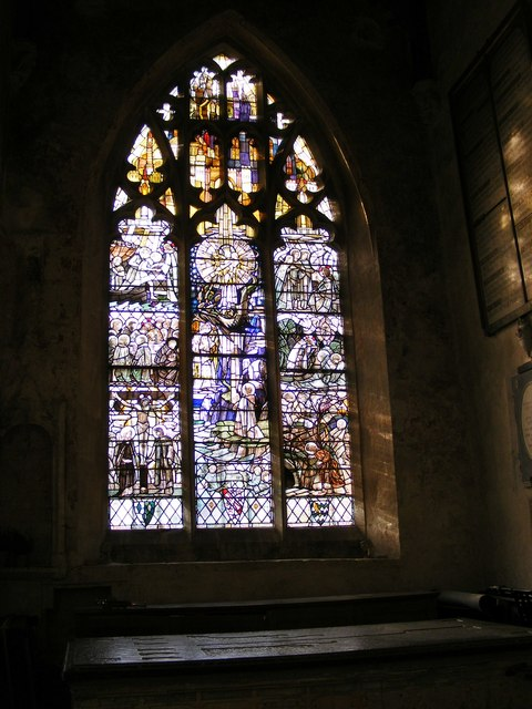 Burford Church Window