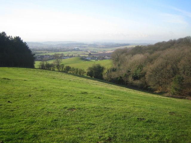 View toward Hagley from Wychbury Hill