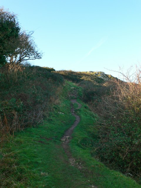 The North Wales Coast Path climbing to the top of Little Orme