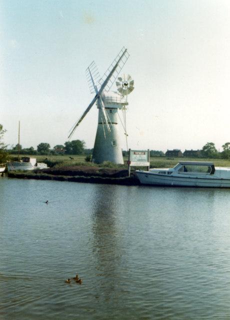 Thurne Dyke Drainage Mill 1980