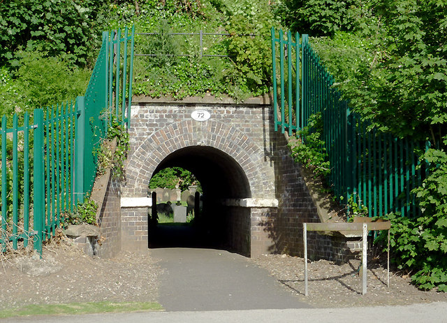 Footpath tunnel in Penkridge, Staffordshire