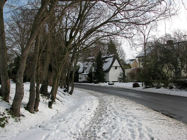 Great Wilbraham: snow in Frog End