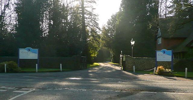Entrance to Grayshott Hall