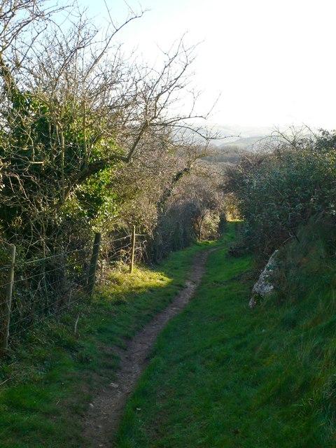 Descending the Little Orme through Rhywledyn