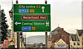 J3474 : Direction sign, Belfast by Albert Bridge