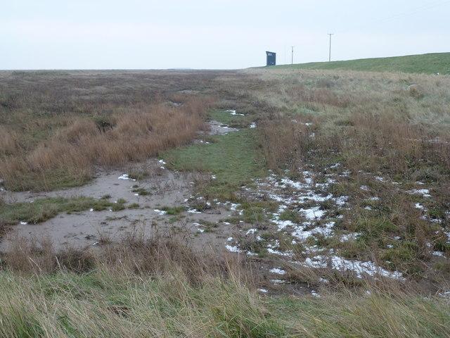 RAF Holbeach - Snow on the salt marsh