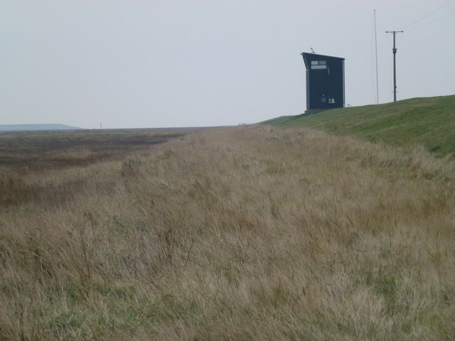 RAF Holbeach - Observation tower on the sea bank