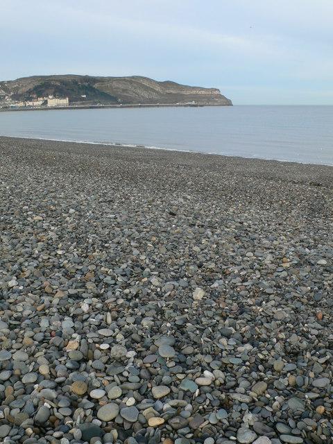 Pebble beach at Craig y Don