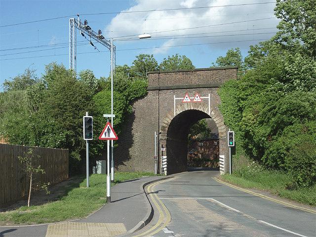 Railway Bridge over Pinfold Lane in Penkridge, Staffordshire