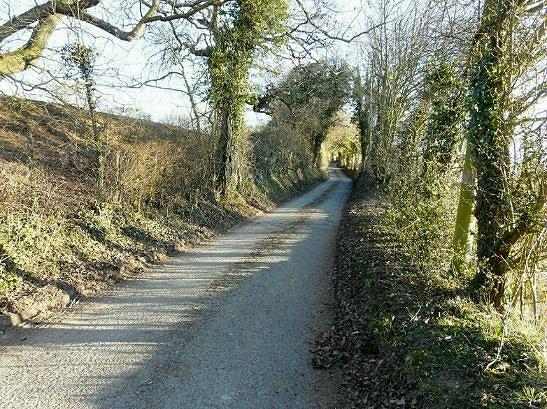 Section of lane above North Elham