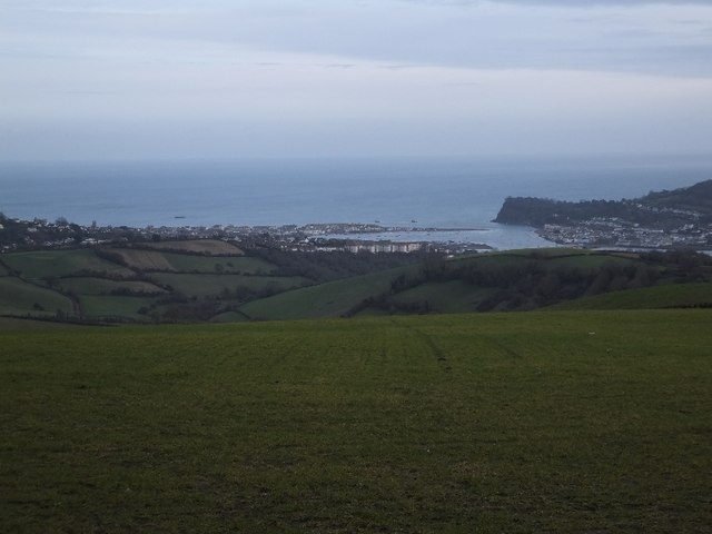 Teignmouth and the mouth of the River Teign