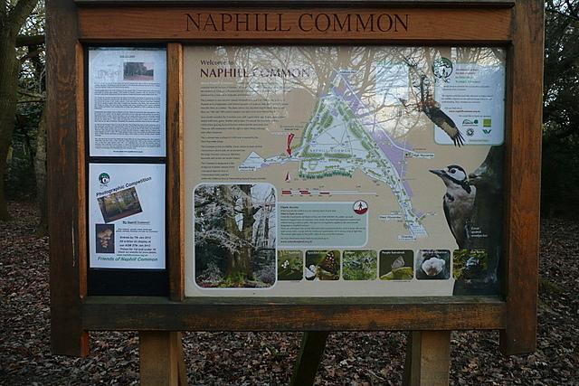 Noticeboard on Naphill Common