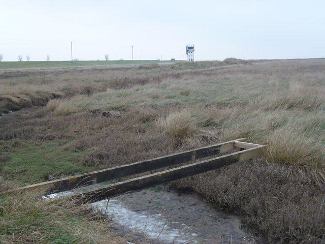 RAF Holbeach - Bridge over a creek on the range