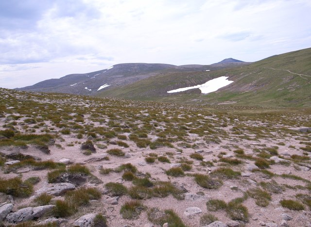 Late-lying snowbed in Coire Domhain