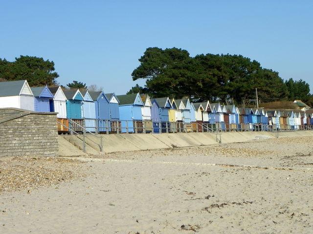 Beach huts, Mudeford