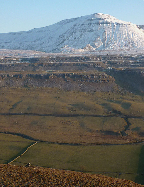 Chapel-le-Dale and Ingleborough from Twisleton Scars