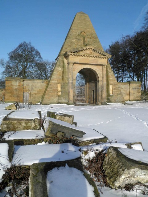 The Obelisk in the parkland at Nostell