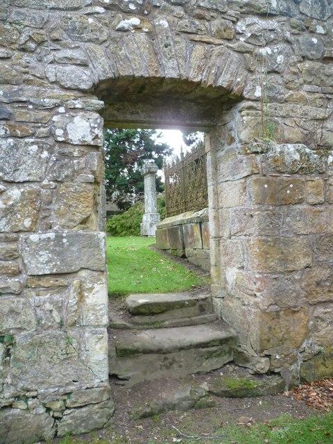Doorway in the Auld Kirk at Kemback