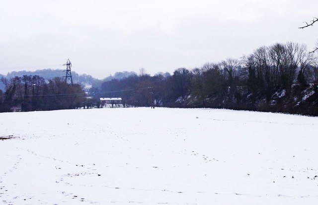 Snow covered field by the Staffs & Worcs Canal, Stourport-on-Severn
