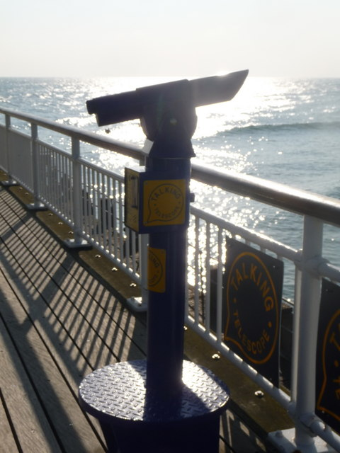 Bournemouth: talking telescope on the pier
