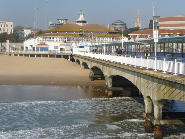 Bournemouth: the pier on a sunny February day