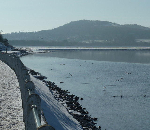 Kent estuary, winter view