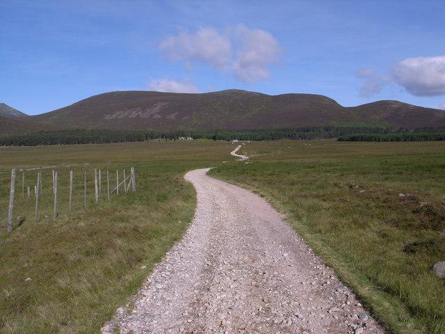 The track to Allt na-giubshaich shooting lodge