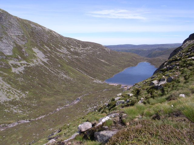 The Allt an Dubh Loch drains into the Dubh Loch