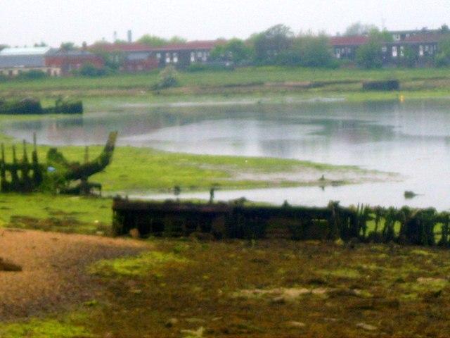Lake looking east, April 2008