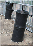 TQ7569 : Old cannon reused as mooring bollards by M H Evans