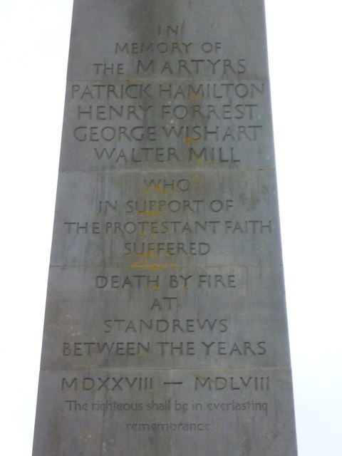 Martyrs Memorial inscription