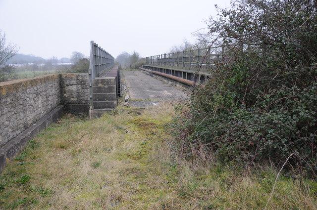 Former railway bridge over the M50