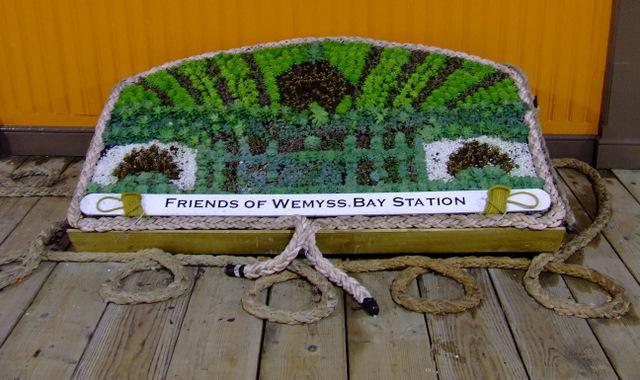 Floral display at Wemyss Bay Pier