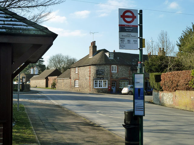 At the bus stop, Halstead