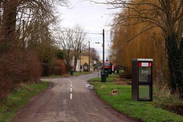 Phone box on Church Lane