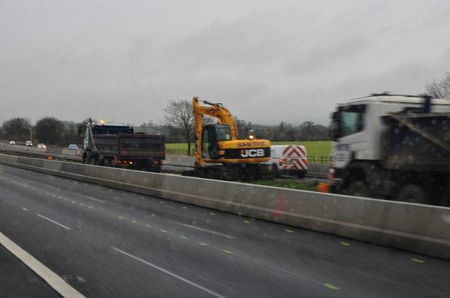 South Gloucestershire : M5 Motorway Roadworks