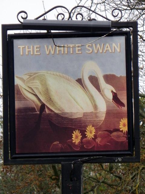 Sign for the White Swan, Minskip