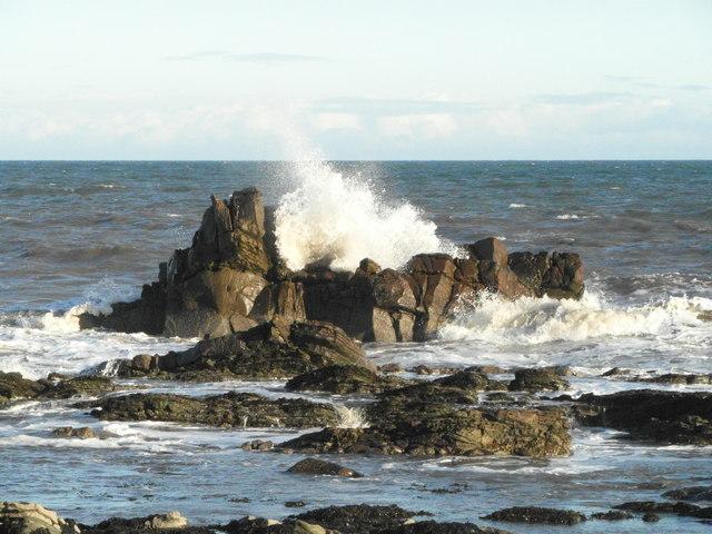 Rough sea at Creagan Dubba