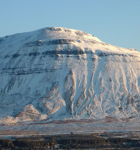 Gullies and crags, Black Shiver face of Ingleborough
