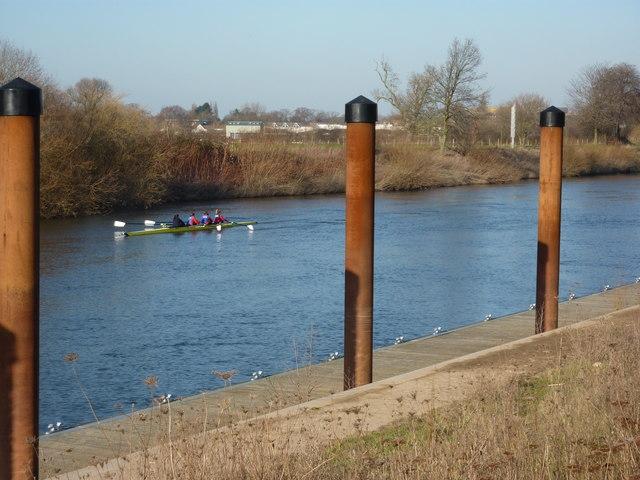 Four ladies rowing