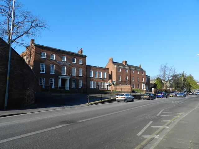 Traffic and offices, Barbourne Road, Worcester