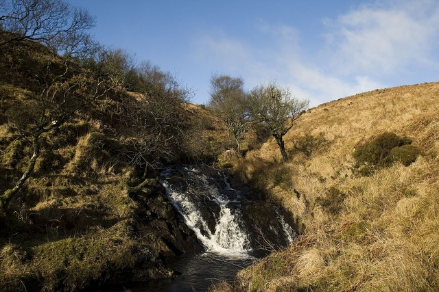 Small waterfall in Margadale River, Islay