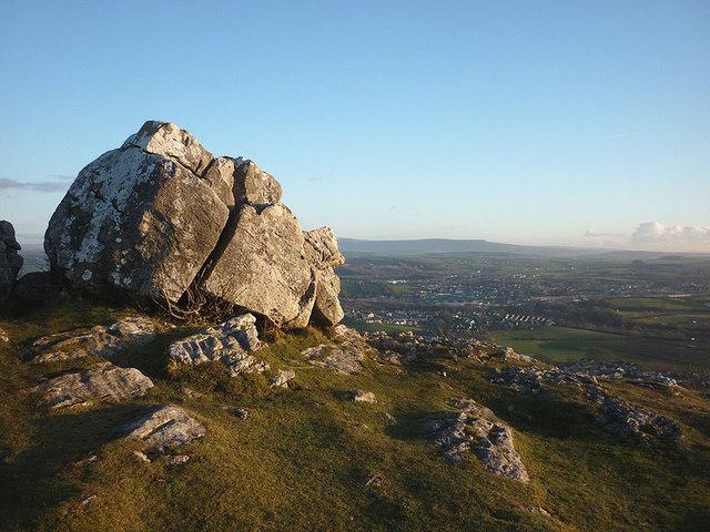 Limestone boulders, Warton Crag