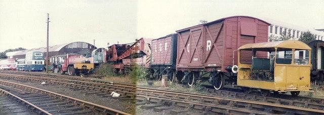The former storage yard of the Scottish Railway Preservation Society