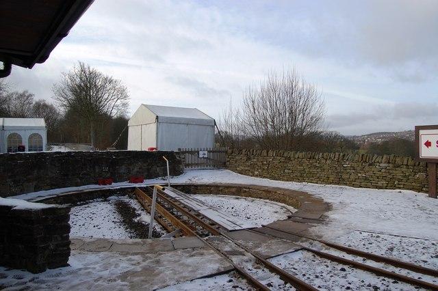 Shelley Station turntable, Kirklees Light Railway