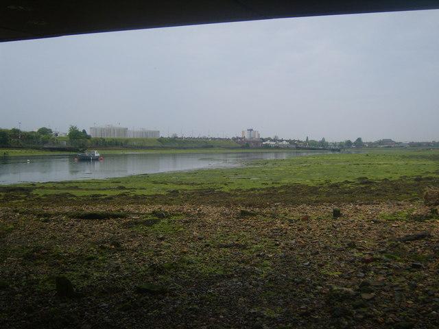 Lake from beneath the bridge