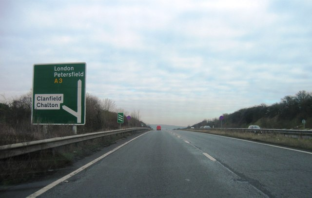 A3 turning for Clanfield