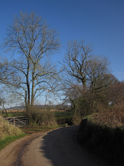 Lane east of Sandfield Farm