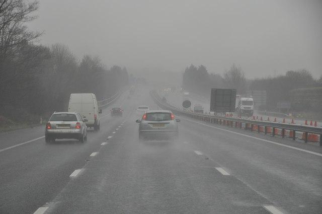 Gloucester : The M5 Motorway Northbound