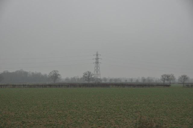Tewkesbury : Field & Pylon